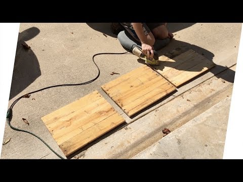 Making Pallet Wood Canvases