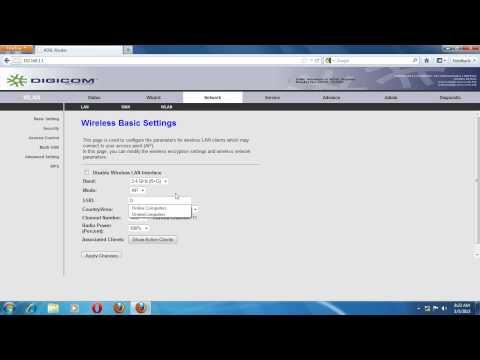 ADSL router(DigiCom) setting method