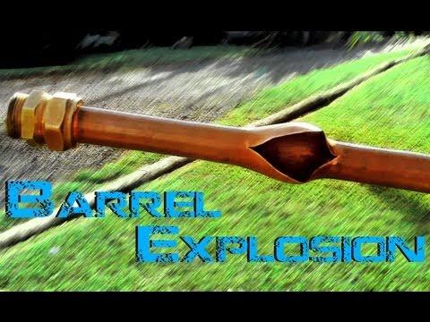 potato cannon barrel explodes at 1100psi