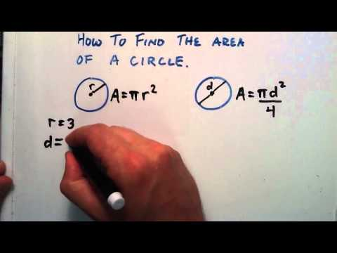How to Find the Area of a Circle, Given a Radius or a Diameter