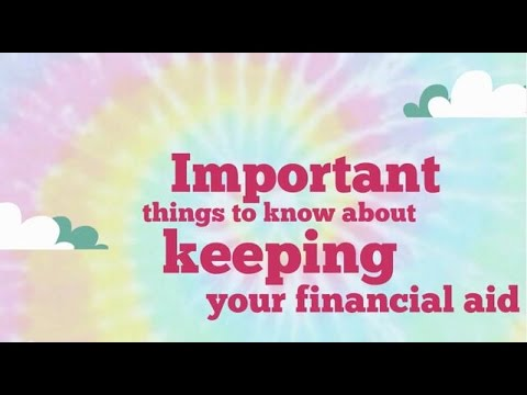 Keeping Your Financial Aid!