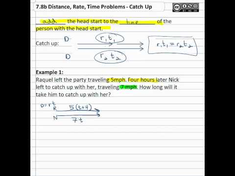 7.8b Distance, Rate, Time Problems - Catch Up