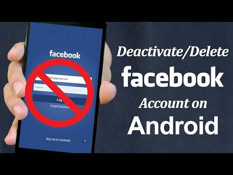 [in Hindi] how to deactivate Facebook account in Android phone