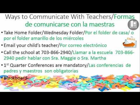 Kindergarten Back to School Night SPANISH
