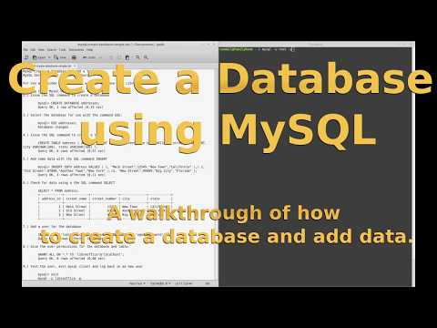 How to create a Database on  MySQL server, using the command line.