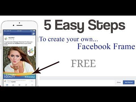 How to create your own facebook frame by mobile phone / facebook profile frame