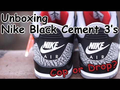 Unboxing Nike Black Cement 3's