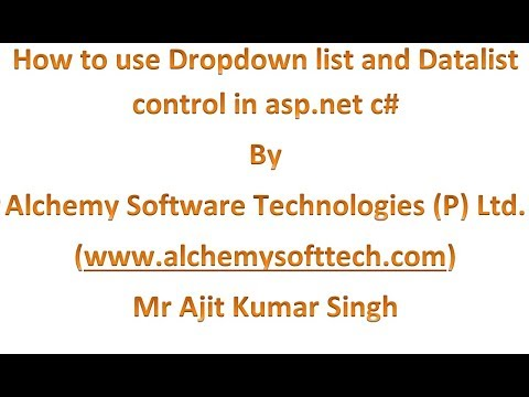 How to use Datalist in asp net with dropdownlist control by ajit kumar singh