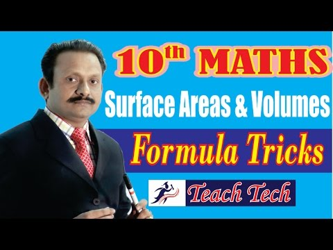 TRICKS / FORMULAS  (Surface Areas & Volumes) 10th Maths  CBSE/NCERT Mathematics