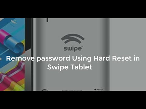 Hard reset Swipe Halo Value Tablet to remove Password