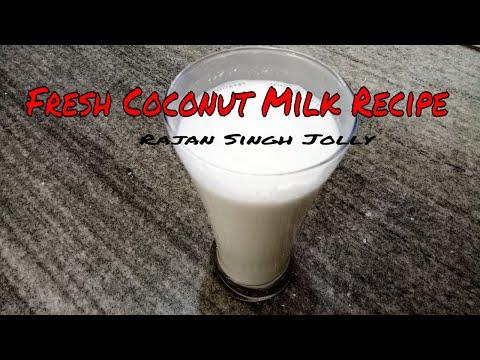 Fresh Coconut Milk Recipe | Coconut Milk Recipe | How To Make Coconut Milk At Home