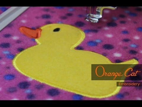 Sew an Applique Embroidery Design Rubber Duck