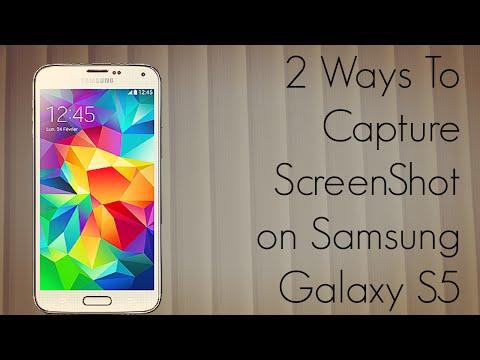 Samsung Galaxy S5 - 2 Ways to Capture ScreenShot - Easy Tutorial