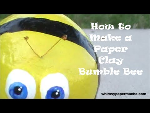 How to Make a Whimsical Paper Clay Bumble Bee