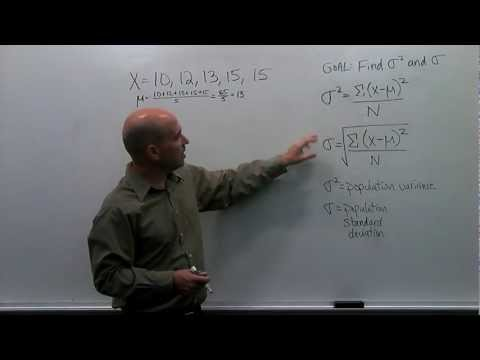 How to Calculate the Population Variance and Standard Deviation - Step by Step