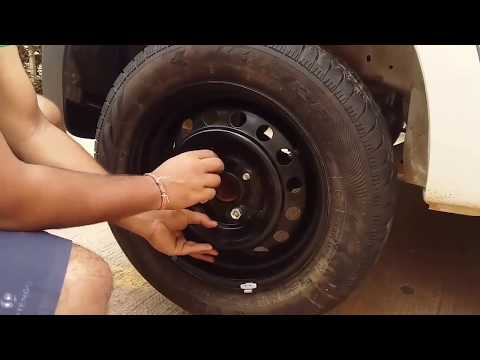 How to change Tyre of Car   Maruti Celerio   Changing Tyre