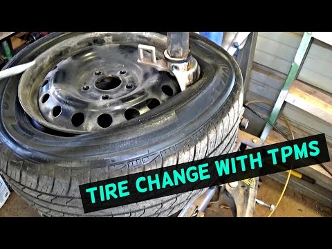 HOW TO CHANGE A TIRE WITH TPMS SENSOR