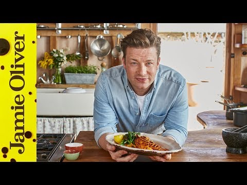 Lemon Chicken with Smashed Sweet Potato | Jamie Oliver