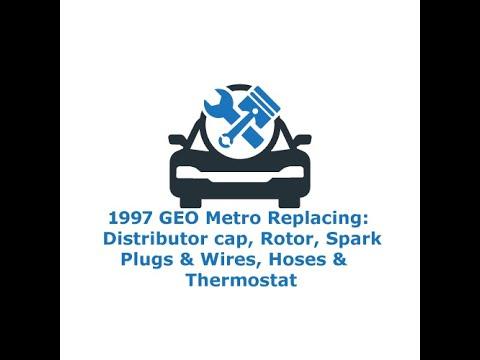 1997 GEO Metro Distributor Cap & Rotor, Spark plugs & Wires,  Hoses & Thermostat
