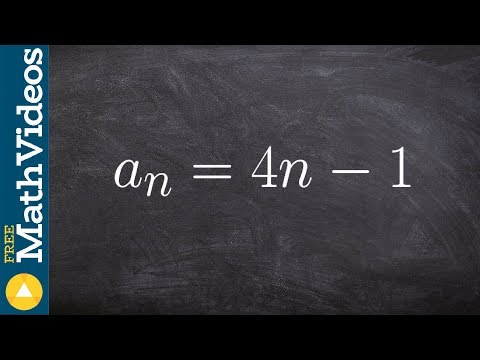 Tutorial - Write the first five terms of a sequence given the rule ex 1, a(n) = 4n - 1