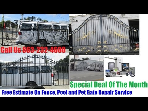 Wrought Iron Driveways, Garden Ranch Steel Gates for Sale In Tampa, Orlando or Lakeland FL
