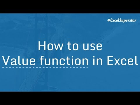 VALUE function  to clean up Number stored as Text in Excel | Hindi