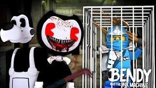 Minecraft BENDY AND THE INK MACHINE - BENDY.EXE WAS CREATED & HAS KIDNAPPED LEGO NINJAGO!!