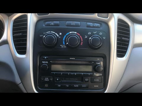 How To Remove Factory Radio On 2000-2007 Toyota Highlander (Step by Step)