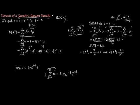 Prob 5 9 Variance of a Geometric Random Variable