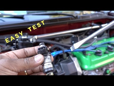 Testing Fuel Injectors with Screwdriver