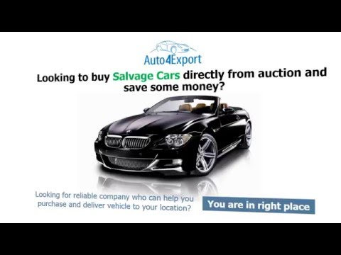 Damaged Cars Export USA - Auto4Export