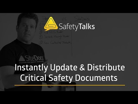 Instantly Update & Distribute Critical Safety Documents - SiteDocs Safety Software