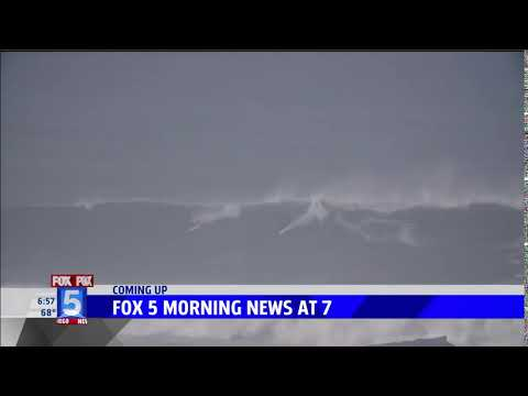 Fox 5's Raoul Martinez Teases Story on Hunter Lysaught Surfing 20-Foot Wave on Mavericks Opening Day