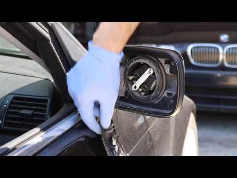 BMW e46 e39 side mirror glass replacement /Как поменять боковое зеркало на БМВ e39 или e46