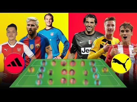 ADIDAS Best XI  = VS =  PUMA Best XI [[ Which Is The Best ? ]]