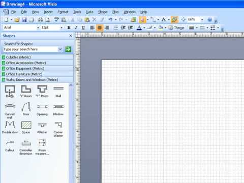 Microsoft Visio - Scale drawing Part 1
