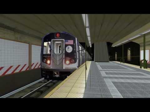 openBVE - R160A-2 N train @ Lexington Ave - 59th Street
