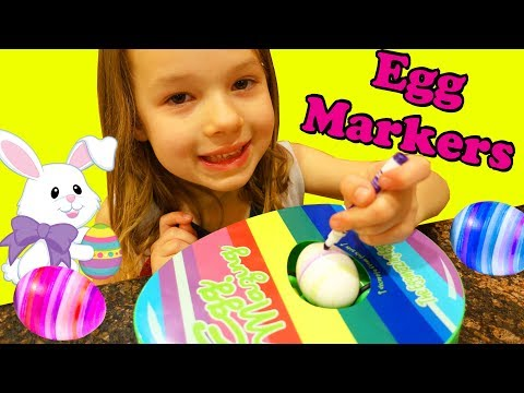 COLORING EASTER EGGS With Markers + Jello Family Activity For Easter Eggs Recipe