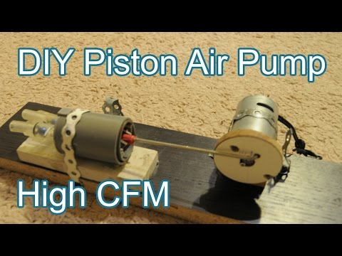 How to Make Motorized Piston Air Pump at Home (Original Video)