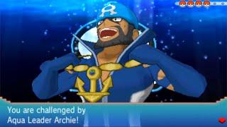 Pokémon Alpha Sapphire: Aqua Leader Archie Final Battle