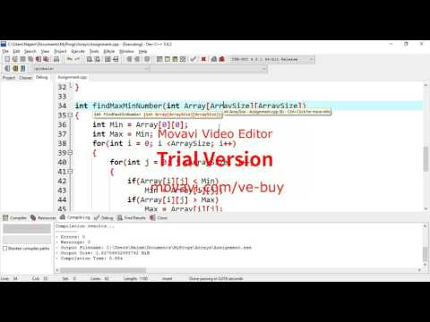 C++ How to find Maximum Value In 2D Array
