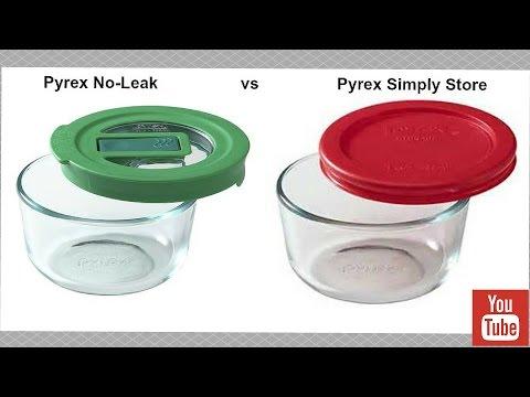 Pyrex No-Leak Lids vs Pyrex Simply Store
