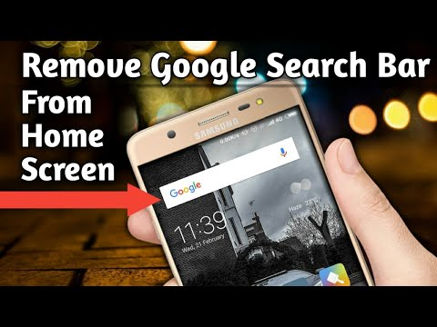 How To Remove Google Search Bar  From Home Screen Of Android Phone? || 2018 Latest Trick