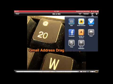 Photo Size Email Options on iPad...In 20 Seconds