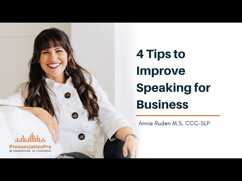 4 Tips To Improve Speaking For Business