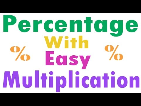 Percentage : Find Percentage with Easy Multiplication Trick - Hindi (2015)