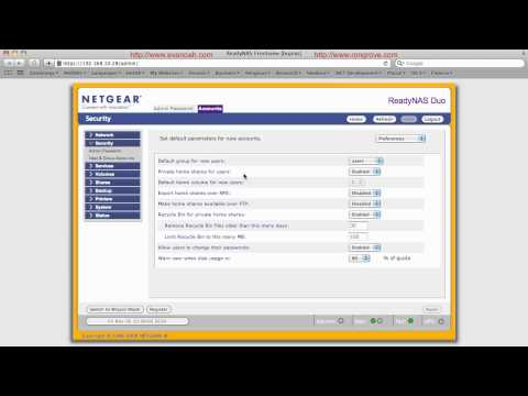 User and Group Management on Netgear ReadyNAS DUO