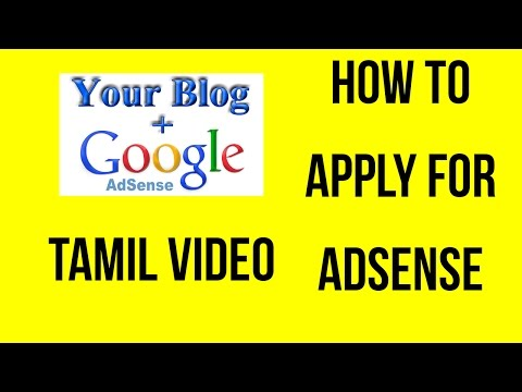 How to apply adsense for blogger in Tamil | Make money online in Tamil