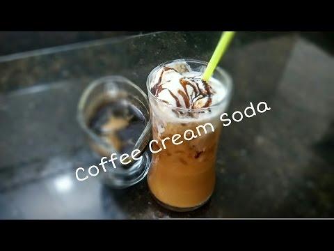 Coffee Cream Soda Recipe/ice cream /without milk cold coffee soda by Somyaskitchen #226