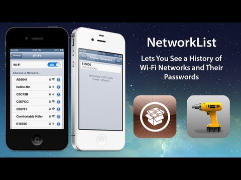 NetworkList: Lets You See a History of Wi Fi Networks and Their Passwords